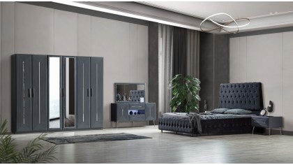 inegöl mobilya Gökçe Antrasit Yatak Odası Takımı
